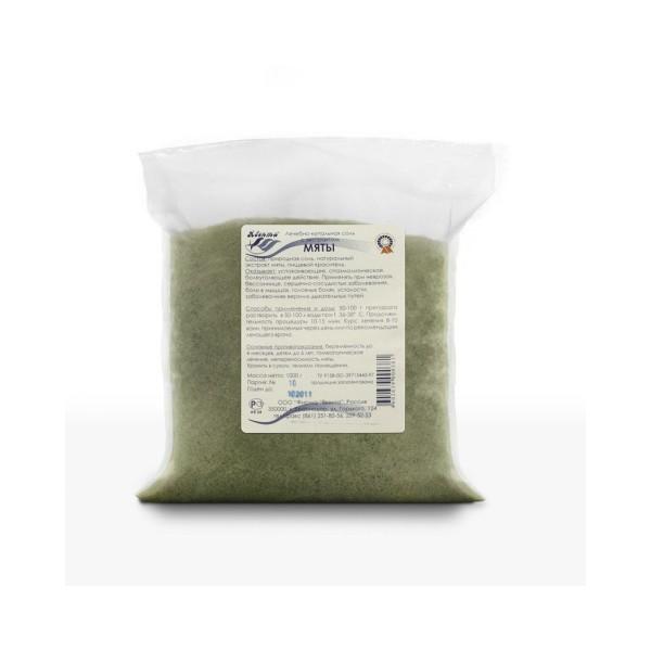 Лечебно-купальная соль с экстрактом мяты перечной 1,0 кг