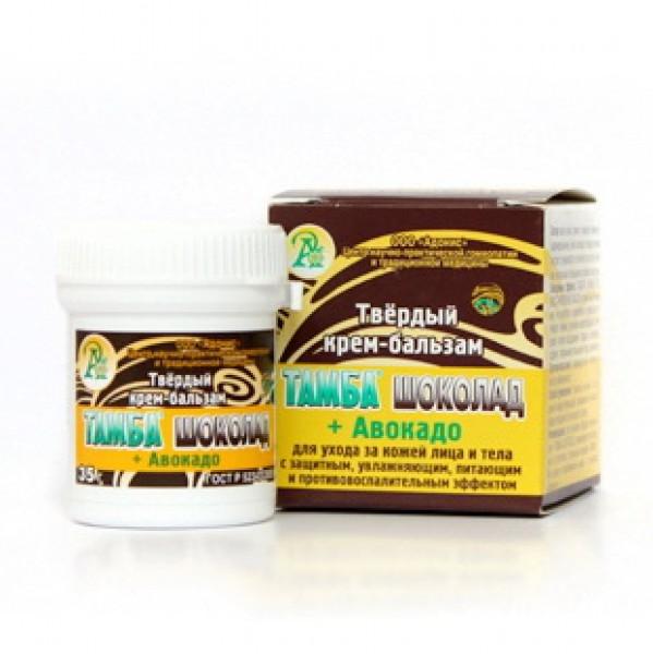 Твердый крем-бальзам Тамба шоколад + Авакадо 35,0 г