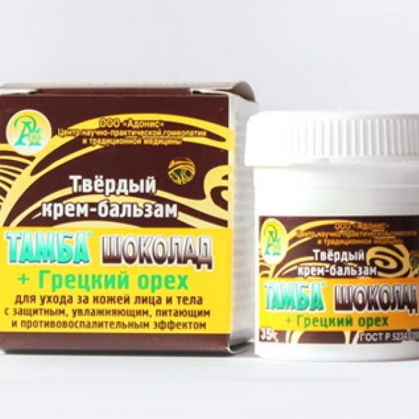 Твердый крем-бальзам Тамба шоколад + Грецкий орех 35,0 г